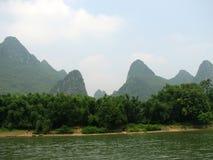Colinas de Guilin Fotos de archivo libres de regalías