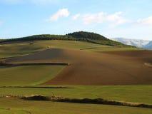 Colinas de la hierba en Elorz foto de archivo libre de regalías