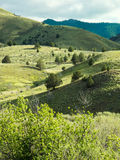 Colinas de la montaña en primavera imágenes de archivo libres de regalías