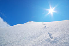 Colinas de la nieve. Imagenes de archivo
