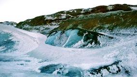 Colinas de la nieve cubiertas con hielo Imágenes de archivo libres de regalías