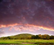Colinas de la puesta del sol Fotografía de archivo libre de regalías