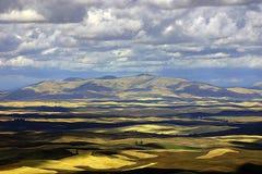 Colinas de las tierras de labrantío Imágenes de archivo libres de regalías