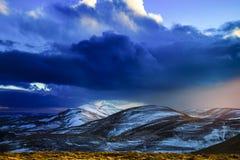Colinas de Pentland cubiertas por la nieve Imagenes de archivo