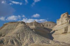 Colinas de Sodom y de Gomorra Israel Fotos de archivo