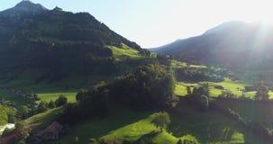 Colinas de Suiza metrajes