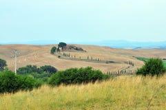 Colinas de Toscana Fotografía de archivo libre de regalías