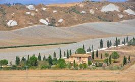 Colinas de Toscana, Italia Imagenes de archivo