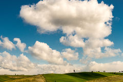 Colinas de Toscana, Italia Fotografía de archivo libre de regalías