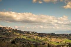 Colinas de Toscana, Italia Fotos de archivo libres de regalías