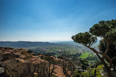 Colinas de Toscana, Italia Foto de archivo libre de regalías