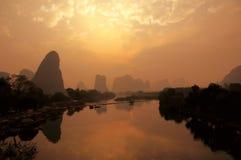 Colinas de Yangshuo Imagenes de archivo