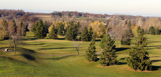 Colinas del campo de golf Fotos de archivo libres de regalías