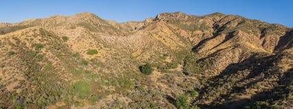 Colinas del desierto en el Mojave de California Fotografía de archivo