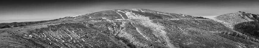 Colinas del invierno Fotografía de archivo