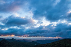 Colinas del laga del ¡de Montes de MÃ, España Fotos de archivo libres de regalías