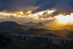 Colinas del laga del ¡de Montes de MÃ, Málaga, España Fotos de archivo