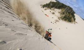 Colinas del montar a caballo en las dunas Fotografía de archivo