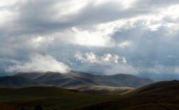 Colinas del otoño de Altai Siberia occidental Rusia fotos de archivo libres de regalías
