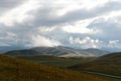 Colinas del otoño de Altai Siberia occidental Rusia fotografía de archivo libre de regalías