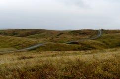 Colinas del otoño de Altai Siberia occidental Rusia imagenes de archivo