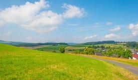 Colinas del parque nacional de Eifel en luz del sol Imagen de archivo libre de regalías