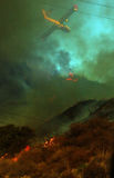 Colinas en llamas Imagen de archivo libre de regalías