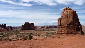 Colinas en valle del monumento Imágenes de archivo libres de regalías