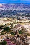 Colinas lejanas y ruinas del horizonte fotografía de archivo