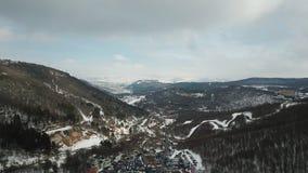 Colinas nevosas hermosas fotografía de archivo libre de regalías