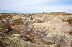 Colinas pintadas del desierto Imagenes de archivo