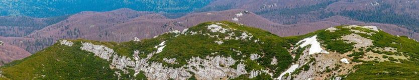 Colinas rocosas verdes Foto de archivo libre de regalías