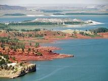 Colinas rojas, parque de estado de Glendo Foto de archivo libre de regalías