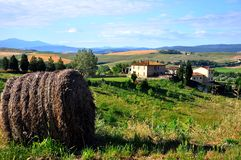 Colinas toscanas en Italia foto de archivo libre de regalías