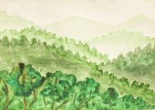 Colinas verdes Fotografía de archivo libre de regalías