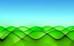 Colinas verdes bajo el cielo azul Stock de ilustración