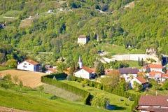 Colinas verdes de la región de Zagorje Foto de archivo libre de regalías