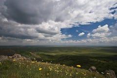 Colinas y nubes Imagen de archivo