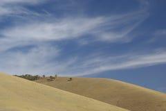 Colinas y nubes Foto de archivo libre de regalías