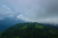 Colinas y nubes Imagenes de archivo