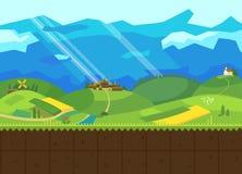 Colinas y valle ilustración del vector