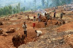 colinesles rwanda Royaltyfri Fotografi