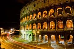 Colisé par nuit, Rome Italie Photographie stock