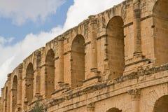 Colisé romain à l'EL Djem Photos stock