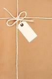 Colis attaché Photographie stock