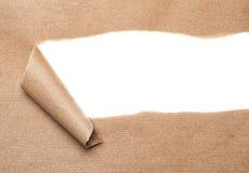 Colis déchiré Photos libres de droits