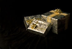 Colis de Noël Photos libres de droits