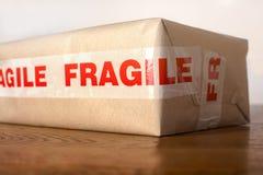 Colis fragile photo stock