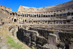 Coliseo adentro, Italia, Roma Fotografía de archivo libre de regalías