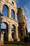 Coliseo en Croatia fotos de archivo